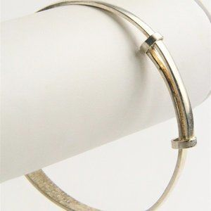 Jewelry - VINTAGE STERLING SILVER BYPASS STYLE BANGLE